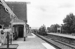 M996-00042 (railphotolibrary.com) Tags: old england english station rural train buildings europe small country platform archive railway somerset historic steam 260 trainspotter bw1 uk1 congresbury ivatt