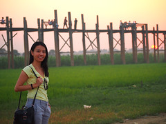 Goodbye U Bein's Bridge (kudumomo) Tags: sunset burma myanmar teak amarapura ubeinbridge  teakbridge ubeinsbridge