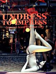 undress to impress (insanaresistenza) Tags: london leave hat shop you can your wtf lovely undress impress