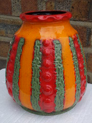 1970's West German Orange Red & Green Fat Lava Vase Dumler & Breiden Bought Today At A London Car Boot Sale (beetle2001cybergreen) Tags: red orange west green london leave car boot one for this lava little sale fat before it just german there buy vase someone got but else had 1970s came today along bought iti couldnt knew haggle hoping dumler a at breiden