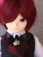 Shaggy Hair (Princeyface) Tags: blue boy olive fairy tiny bjd bf abjd msd bluefairy tinyfairy