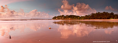 (Louise Denton) Tags: pink sunset red panorama cliff beach clouds reflections nt australia darwin panoramic northernterritory mindilbeach louisedenton