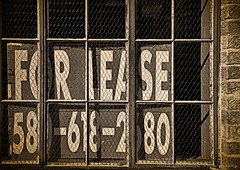 FOR LEASE (Darkmoon Photography) Tags: street building art oklahoma sign downtown gimp textures weathered shadowbox okc deserted darkmoon jerryjones flickrokc