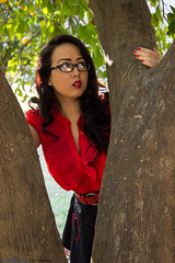 Valentine's Day with Mara Chino 9 (Pair-A-Ducks Studios) Tags: ranch red arizona black tree dress unitedstates glendale valentine mara rockabilly valentines pinup valentinesday manistee chino marachino manisteeranch
