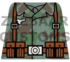 WWII German Fallschirmjger Decal WIP (zalbaar) Tags: world 2 war lego german ww2 decal customs paratrooper fallschirmjager zalbaar
