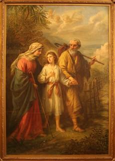 Jesus geht nach Jerusalem - Jesus going to Jerusalem - Young Jesus - Jesus at 12 – Jesus with Mary and Joseph – 1902 - B. Plockhorst – Bernhard Plockhorst