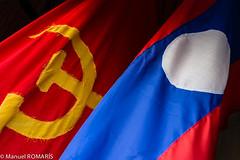 Vientiane, Laos (Manuel ROMARIS) Tags: flag communist laos lao vientiane buddhisminlaos