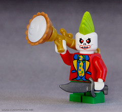 Rogue Clown (customBRICKS) Tags: hair pie punk lego clown bad knife evil rogue rocketlauncher minifigure
