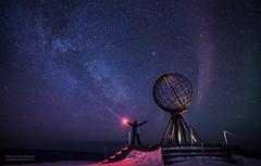 North Cape, Milky way and me (Tor Even Mathisen) Tags: night stars natt finnmark honningsvåg northcape milkyway nordkapp