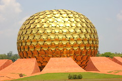 Matrimandir at Auroville - #16032013-IMG_0583a (photographic Collection) Tags: india canon mar photographic collection 365 16th auroville sarma 2013 550d kalluri t2i photographiccollection bheemeswara bkalluri bheemeswarasarmakalluri