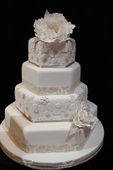 Wedding Cake (crayonmonkey) Tags: wedding cake exhibition squires farnham tiered 2013 jillfisher