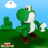 """LEGO Yoshi • <a style=""""font-size:0.8em;"""" href=""""http://www.flickr.com/photos/44124306864@N01/8568327329/"""" target=""""_blank"""">View on Flickr</a>"""