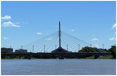 Provencher Bridge (Prairie Dreams) Tags: city bridge canada winnipeg offshore manitoba redriver provencher
