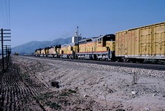 Going Home for Good (IndustRail) Tags: california unionpacific 1985 ono sd24 gp9b cajonblvd