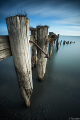 What's Left (Ryan Gardiner) Tags: wood old longexposure morning lake ontario canada clouds point pier nikon rust shoreline lee bolt lakeontario posts 50 remains grimsby bigstopper d800e