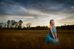 Laney (Jamie M. / jcm-photo.com) Tags: sunset portrait grass fashion dress softbox laney lastolite strobist joemcnally lumopro lp160