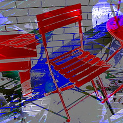 Red Chair (hollykl) Tags: red abstract photomanipulation square chair digitalart hypothetical winterparkfl vividimagination arteffects sharingart awardtree