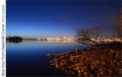 Blue Hour From Desjardin Canal (jwvraets) Tags: dawn nikon hamilton gimp bluehour burlingtonbay d7100 desjardincanal nikkor18105mmvr