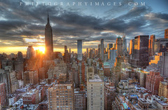 NYC From Midtown (PhilJohnsonPhoto) Tags: city nyc newyorkcity sunset ny newyork skyline sunrise town twilight cityscape dusk midtown empirestatebuilding manhatten mid 3rdstreet 37thave philtographyimages