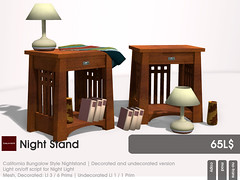 22769 ~ [bauwerk] for THE CHALLENGE: California Bungalow (Paco Pooley) Tags: life mesh furniture decoration secondlife second bauwerk nightstand homeandgarden californiabungalow thechallenge 22769 originalmesh meshfurniture meshdecoration meshproduct thechallengeforbuilder originalcreatormesh