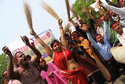 Protest in Bhubaneswar, India