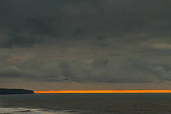 Sunset Slash (mclcbooks) Tags: sunset england sky beach water clouds landscape unitedkingdom yorkshire northsea whitby