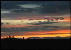 pinceladas en una puesta de sol