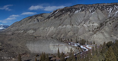 Yellowstone Panorama1 (Canon Queen Rocks (1,130,000 + views)) Tags: trees sky snow river landscape flow nationalpark scenery rocks scenic soil greens yellowstone wyoming