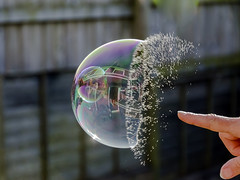 Bubble Burst (Jason Way (F6WAY)) Tags: water nikon colours hand finger bubble burst autofocus fastshutter d7000 flickrstruereflection1