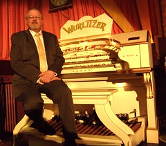 Organist Paul Gregson, at the Wurlitzer organ of the Furness Theatre Organ Project. (Paul Gregson) Tags: cinema organ cumbria organs wurlitzer bowness bownessonwindermere organist organconsole wurlitzerorgan cinemaorgan royaltycinema paulgregson furnesstheatreorganproject