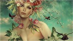 Magissa~Bloom (Skip Staheli *11 YEARS SL PHOTOGRAPHY*) Tags: flowers portrait closeup spring sl fantasy secondlife dreamy hummingbirds pileup skipstaheli magissadenver