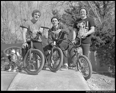 BMX riders, Meadow Lane ramps (Bossnas) Tags: bw bmx hc110 oxford hp5 superd owp simplyoxford