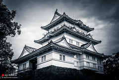 BUSHIDO (Masahiko Futami) Tags: bw castle monochrome japan architecture landscape photo asia shoot photographer photograph 日本 odawara kanagawa 旅行 城 建築 建物 風景 神奈川県 白黒 アジア 小田原 小田原城 モノクローム