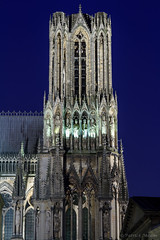 Reims et sa cathdrale. (Patrick Mayon) Tags: france architecture night landscape cityscape cathedral champagne bluehour paysage reims nuit cathedrale urbanlandscape paysageurbain nuitamricaine