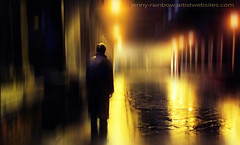 Ghost of Love (Jenny Rainbow) Tags: lighting street light man male night town fantastic darkness magic ghost great gothic stranger magnificent mystic nightinthecity nightintown ghostoflove jennyrainbowfineartphotography