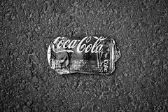 singular (itawtitaw) Tags: street white black contrast trash dark blackwhite flat pavement coke korea can cocacola discarded southkorea minimalist sigma30mm14 canoneos60d