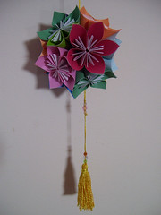Kusudama (Chimerastone) Tags: art japanese origami decorative modular morningdew papercraft papermodel kusudama