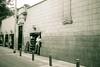 Untitled (ErnestDuffoo) Tags: street blackandwhite film mannequin peru monochrome fashion canon dream surreal clothes sidewalk shops nightmare greentint 400tmax sureshot80tele perú repúblicadelperú