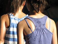 sweaty backs (320828282) Tags: girls summer wet public back candid sweaty heat cuties