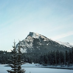 (hatman003) Tags: winter mountain snow canada river frozen peak alberta banff banffnationalpark