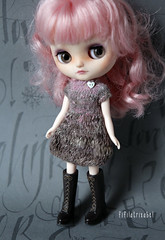 Dusky pink Noro yarn dress