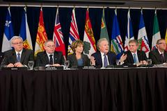 Premiers/premie(è)r(e)s ministres Selinger, Dexter, Clark, Charest, Alward, Wall
