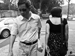 passersby (-{ ThusOriginal }-) Tags: bw blackandwhite china city digital grd3 grdiii hangzhou monochrome people ricoh street summer thusihaveseen thusoriginal