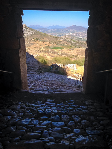 View out of third gate, Acrocorinth