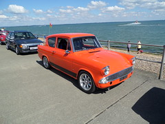 Ford Anglia_8594 (pjlcsmith2) Tags: minsterleas classicvehiclesontheseafront 2016 cars sweethut sheppey classiccarshow ford anglia 105e