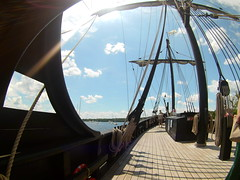 (theleakybrain) Tags: mokacam mokacam4k 20160716135631 columbus ships hudson wisconsin nina pinta tall wideangle actioncam indegogo