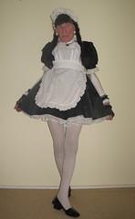 Maid reporting for duty (marcia2015au) Tags: tv cd crossdresser crossdressing sissy dressing cosplay petticoats sissymaid maid