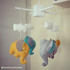Móbile Elefantinhos (mfuxiqueira) Tags: móbile elefante elefantinho berço quartodemenino