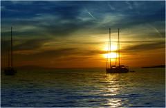 Novalja - Tramonto (Armando Domenico Ferrari) Tags: armandodomenicoferrari armandodomenicoferrarifotografo armandodomenicoferrariphotographer armandoferrarifotografo istrice1 adf italy brescia photoshop tag lumix panasonic lumixpanasonictz20 veliero pag isoladipag novalja sunset tramonto croazia croatianovalja boat sea otopag pagisland
