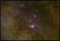 Lagoon Nebula (M8) & Trifid Nebula (M20) (G A M A U F   V I S U A L S) Tags: nikon nightshot night nikond810a d810a deepsky milkyway sagittarius nebula dso lagoon trifid m8 m20